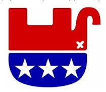 GOP logo upside down